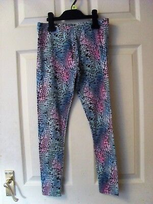 GIRL'S PINK & BLUE LEGGINGS BY NEXT AGE 11 YEARS HEIGHT 146cm EXCELLENT COND