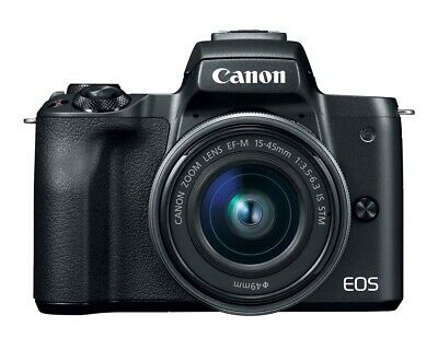 Canon EOS M50 Digital Camera Kit with 15-45mm Lens - Black