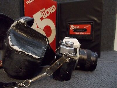 Vintage Yashica FR II SLR 35mm Camera w/ Yashica ML 50mm 1:1.7 Lens Japan
