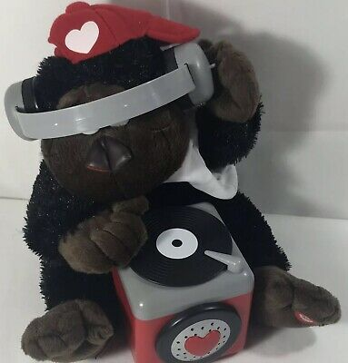 "Gorilla Monkey Plush Animated ""Everybody Dance Now"" DJ Turntable C+C Music Gift"