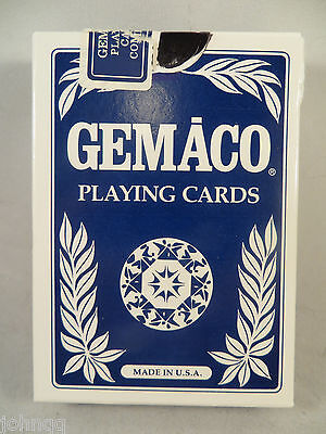 Las Vegas Club Casino Played Playing Cards - Blue Deck with 2 Jokers Gemaco