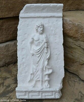 "Roman Greek Asclepius Frieze fragment Sculpture reproduction art 12"" home decor"