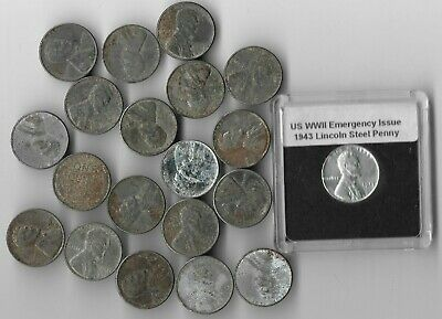 20 Rare Old WWII US Coin Collection WW2 Steel Lincoln Penny Vintage War Cent Lot