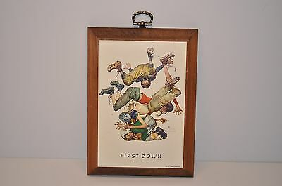 """Norman Rockwell NATIVE AMERICAN Indian print /""""SEE AMERICA FIRST/"""" 11x15/"""""""