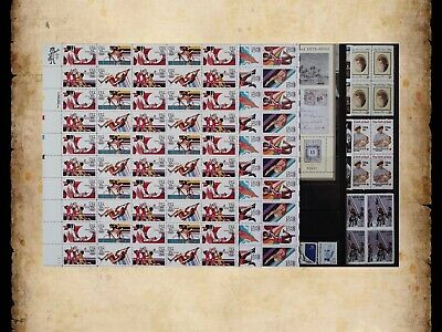 US Postage Stamps Face Value $42 + Unused Lot #142 Sheets Blocks Mixed 55c Combo