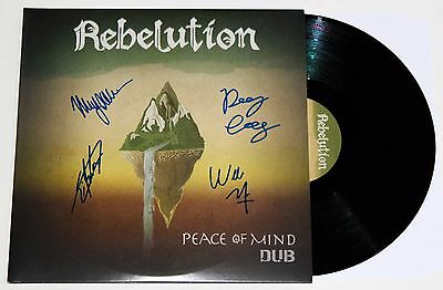 REBELUTION BAND SIGNED PEACE OF MIND DUB 2x LP VINYL RECORD AUTOGRAPHED +COA