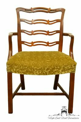DREXEL HERITAGE Duncan Phyfe Solid Cherry Ladder Back Dining Arm Chair