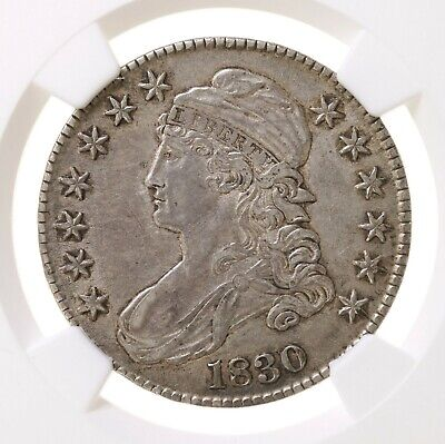1830 Capped Bust 50C Small 0 O-110 NGC Certified AU53