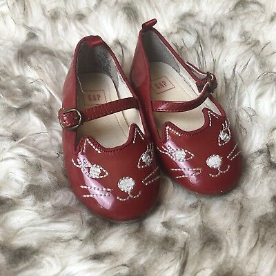 6ddfe1ba2 GAP BABY TODDLER Girl Size 12-18 Months Red Patent Leather Mary Jane ...