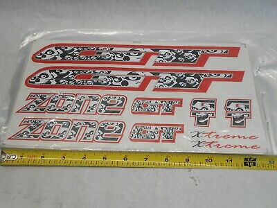 Primo BMX Bike Bicycle FRAME FORK Mustache Decals set 13 stickers RED