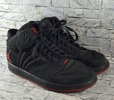 d246c27fb7f8d9 Nike Air Jordan 1 Flight 4 Men s Size 9.5 Black Red Basketball Shoes 838818-