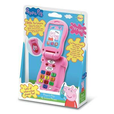 NEW Peppa Pig - Flip and Learn Phone Kids Childrens Toys
