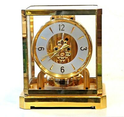 JUST CLEAN SERVICED 1940s JAEGER LECOULTRE*ATMOS II* MANTLE V-LOW 20XXX WORKING