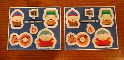 South Park - Comedy Central 1998 - 2 Sheets of Promotional Stickers - Fine!