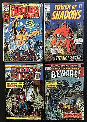 MARVEL MONSTER COMICS. Bronze Age. Titano. Zog. Kirby. Ditko. Free Shipping