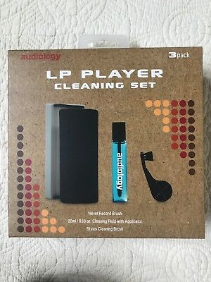 Audiology LP Player Cleaning Set Velvet Record Brush Stylus Cleaning Brush New