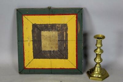 19Th C Double Side Inlaid And Painted Checkerboard Game Board Nice Country Piece
