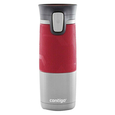 Contigo Pinnacle Grip Travel Mugs Thermos Water Flask Autoseal Spillproof Red