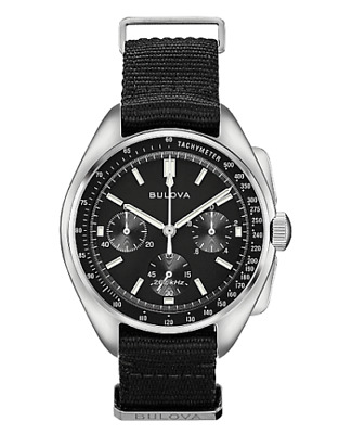 NEW 2019 Bulova 96A225 Lunar Special Edition Pilot Chronograph Watch BRAND
