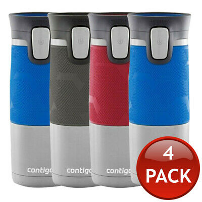 4 x CONTIGO PINNACLE TRAVEL MUGS THERMOS COFFEE WATER FLASK AUTOSEAL SPILLPROOF