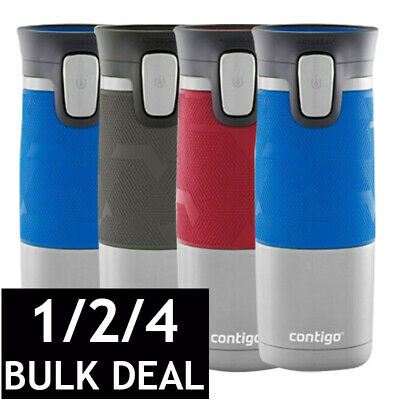 Contigo Pinnacle Grip Travel Mugs Thermos Coffee Water Flask Autoseal Spillproof
