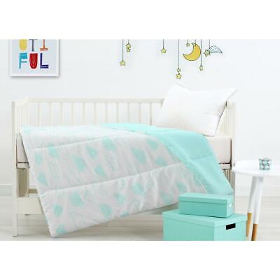 NEW Dymples Baby Cot Quilt Duvet 1x1.2m - Cloud Print Birthday Gift AU Stock