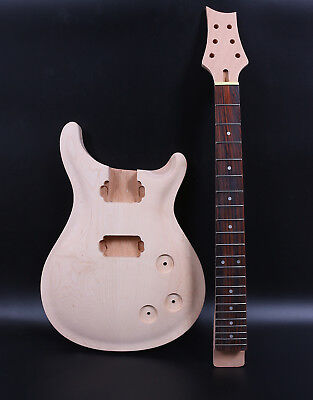 Diy Set Electric Guitar Body+Guitar neck Mahogany Unfinished Guitar Project Kit