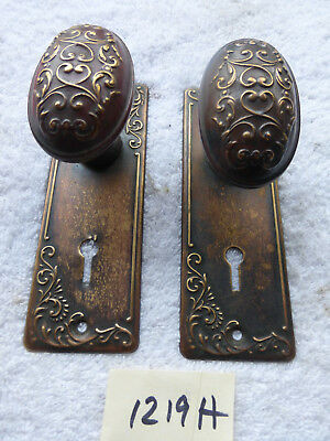Vintage Antique  Victorian Brass Door Hardware SET 1219 H