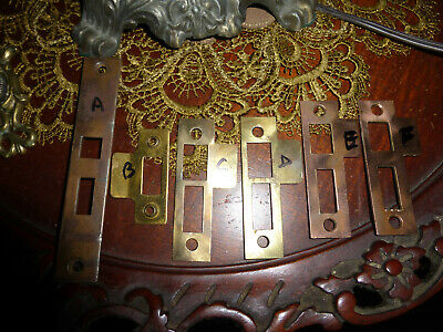 7 Antique Door Strike Plates  Face Plates Keepers SET 83 D