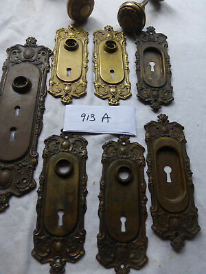 "Vintage 11 pc Brass Corbin ""Holland"" Door Hardware Collection SET 913 A"