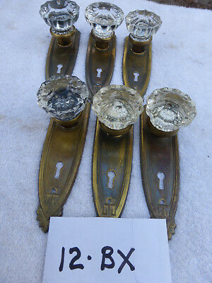 Vintage Antique Art Deco Door Hardware SET 12 BX