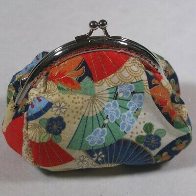 Coin Purse Handmade Japanese Fan  L12,  W 7,  H 11, Wgt  36g.  Frame  10.5 (cm)