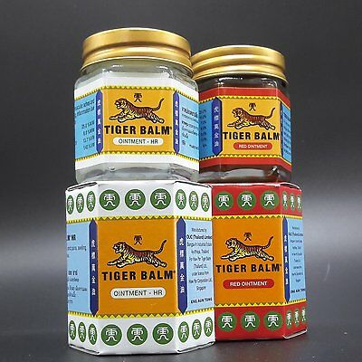 Pack Baume Tigre Rouge/Blanc 30gr Anti-Douleurs (Tiger Balm) - FORTE 25% Camphre