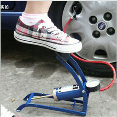 Draper Double Cylinder Foot Pump Tyre Inflator Bike Bicycle Car Auto Accessories
