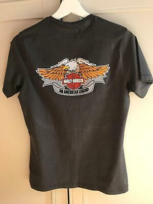 Harley-Davidson Motorcycle Embroidered T-Shirt S Size