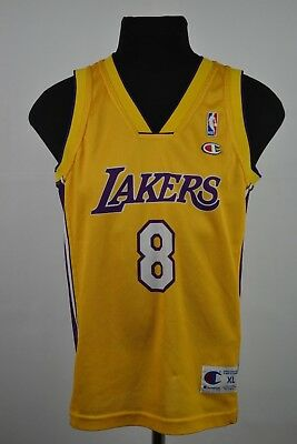 43c5c7e6f7c Nba Los Angeles Lakers Basketball Shirt Jersey Champion #24 Kobe Bryant  Kids Xl