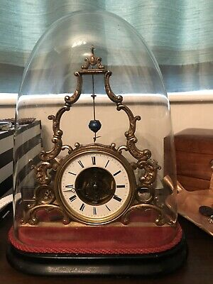ANTIQUE FRENCH  SKELETON CLOCK 19 th Century