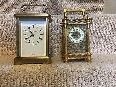 Lovely Matthew Norman Swiss Quality Chiming Carriage Clock Great Condition