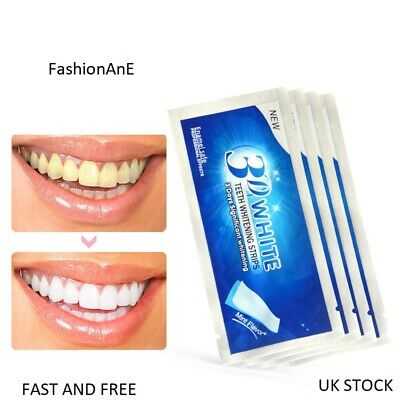 28Pcs 14 Pouches 3D White Advanced Teeth Whitening Strips Pro Tooth Bleaching Uk