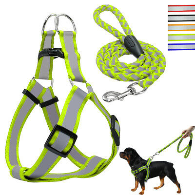 Dog Harness Step-in Walking Leash Set No Pullig Reflective Nylon Dog Vest Leads