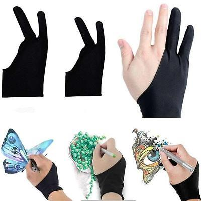 Artist Anti Fouling Two Fingers Glove For iPad Pro Wacom Tablet Drawing YU