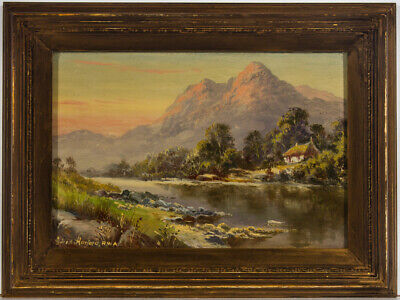 Alfred Harford RWA (1848-1915) - Early 20th Century Oil, Welsh River Landscape