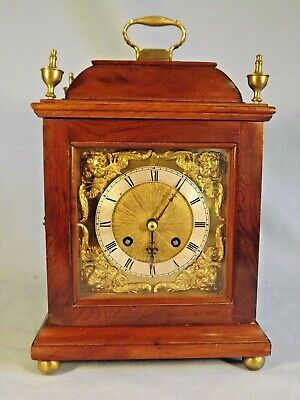 Small Size French Yew Wood Bracket Clock.