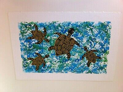 Elley Binddy 'Gathering Turtles' - Original Aboriginal Art