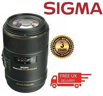 Sigma Macro 105mm f/2.8 EX DG OS HSM Macro Lens For Canon 258101 (UK Stock)