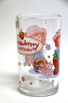Verre CHARLOTTE AUX FRAISES / Strawberry Shortcake glass Vintage RARE