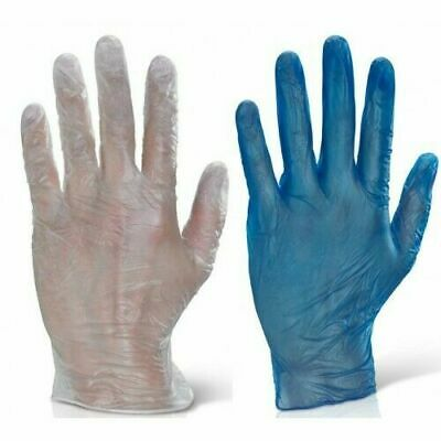 100 Disposable Powder Free Latex Free Clear Vinyl Gloves Nitrile Blue Surgical