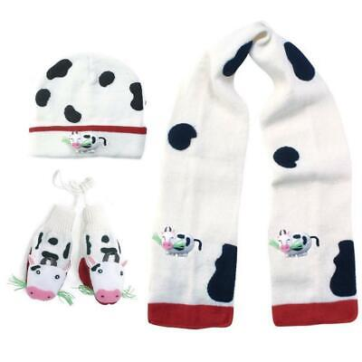 Kidorable Cow Knitwear Kids Childrens Unisex Knitted Winter Accessories Gift