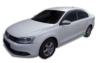 ADHESIVE WIND DEFLECTORS 4pc TINTED SCOUTT for VW JETTA 2011-up