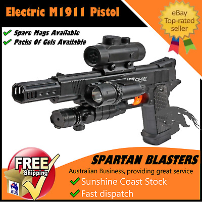 Gel Ball Blaster Toy M1911 Pistol Water Crystal Bullet Outdoor Gun 100% AU STOCK